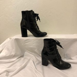 Patent Leather Booties Kenneth Cole